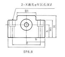 丝杠支架EF型